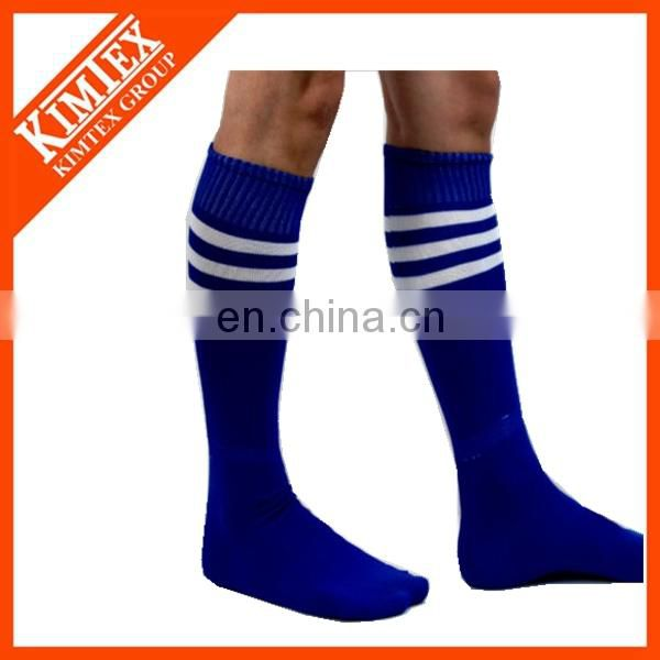 Football custom over knee ankle stripped sport socks