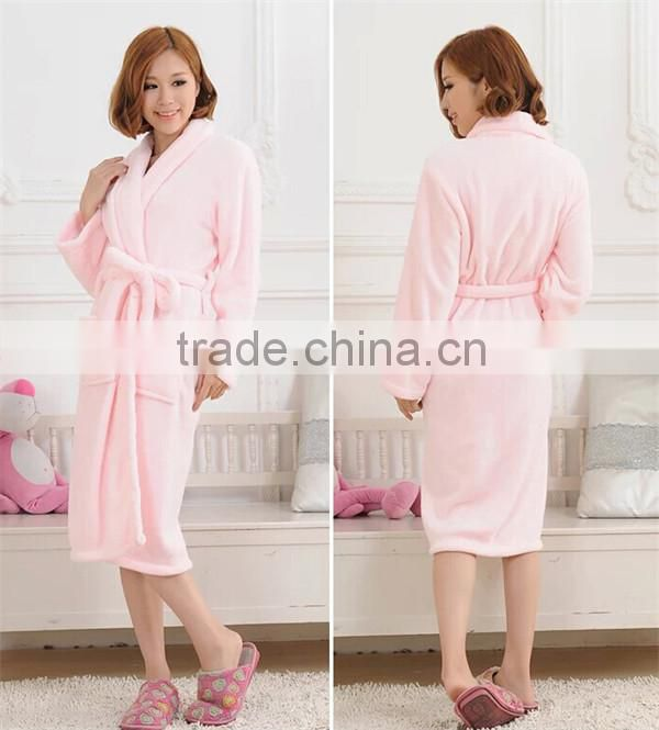 hot selling multi-color cheap fleece bathrobe