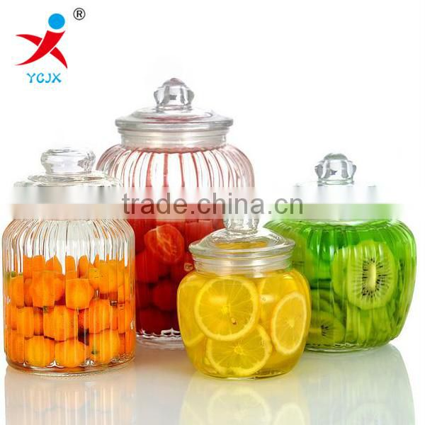 High Quality Glass Candy Jar with Lid for Dry Food
