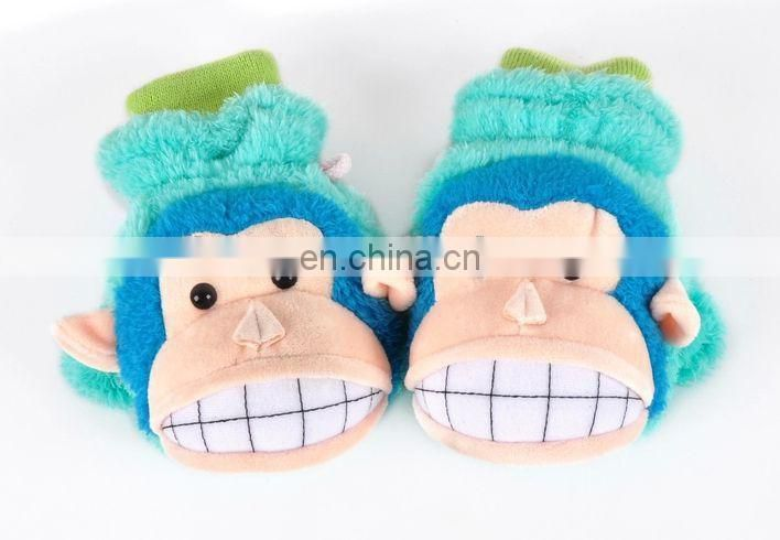 2015 new design useful colorful warm soft women animal gloves
