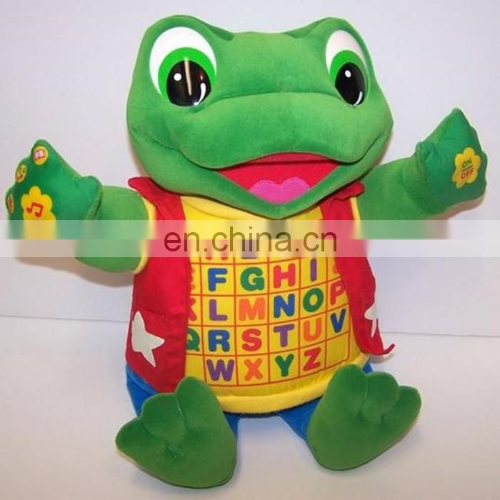 Green Frog Read & Sing Baby Tad Alphabet plush Toy
