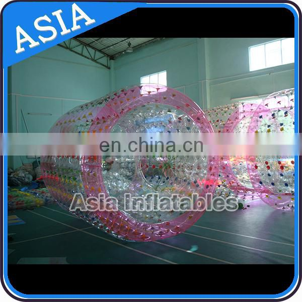 Colorful water playing funny inflatable wheel roller