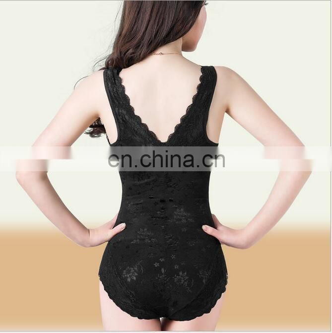 Black lace fat burning waist shapewear#SP0006