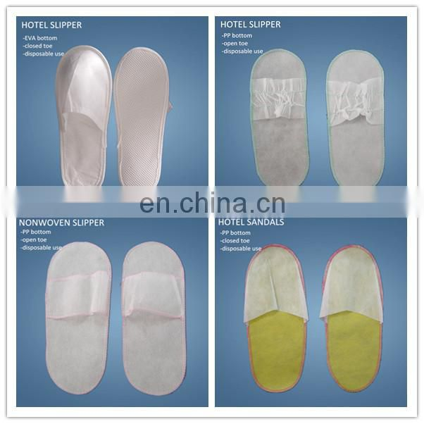 disposable nonwoen hotel slippers closed toe