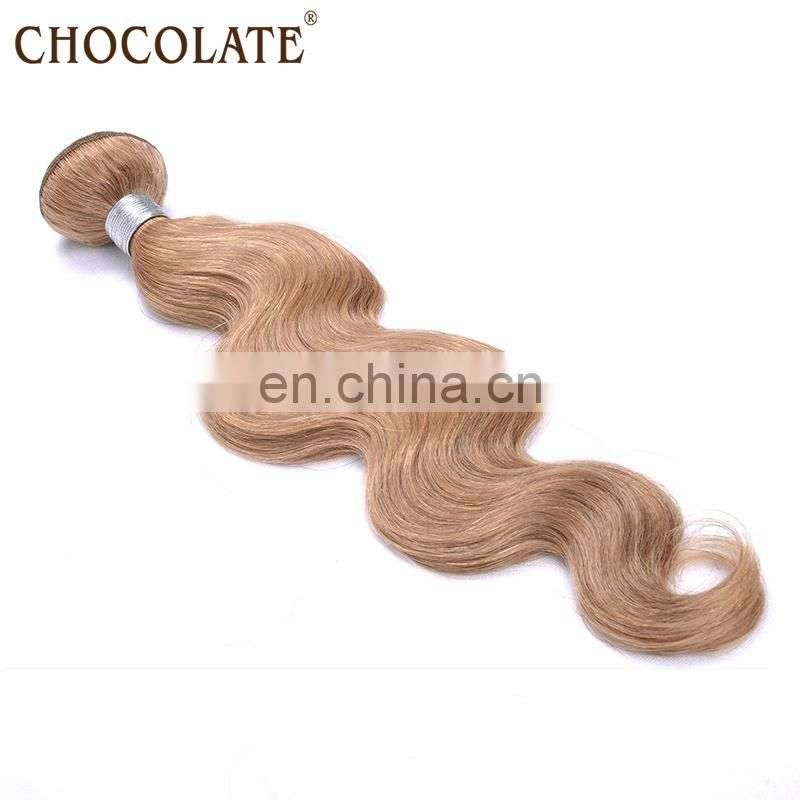 Silky and smooth chocolate human hair extension/body wave chocolate hair weaving