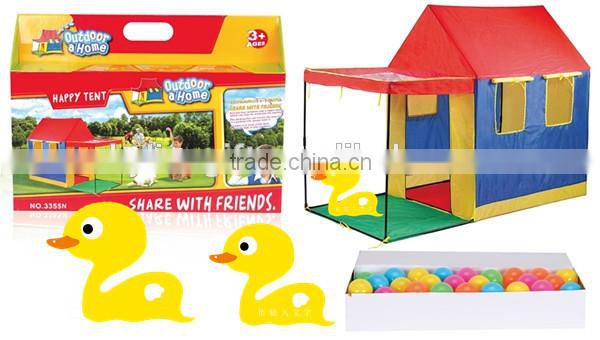 Happy children tent share with friends children play house toys with color balls