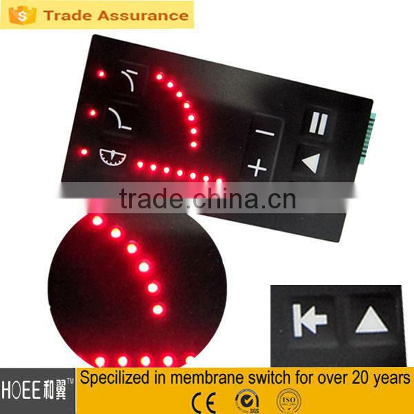 Custom design beautiful home appliance application,medical equipment membrane switch keypads