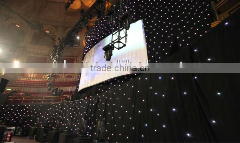 flexible LED star cloth /led star curtain