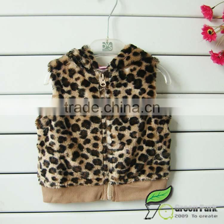 fashion girls leopard feather vest +pink long sleeve sweetie t shirts+Jeans 3pcs outfits girls suits baby clothing sets winter