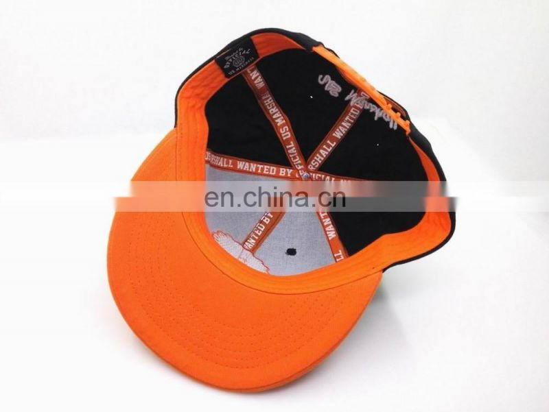 cotton customized snapback cap, hip-hop snapback cap, embroidered cap, baseball cap, cotton cap, flat bill cap, hats and cap
