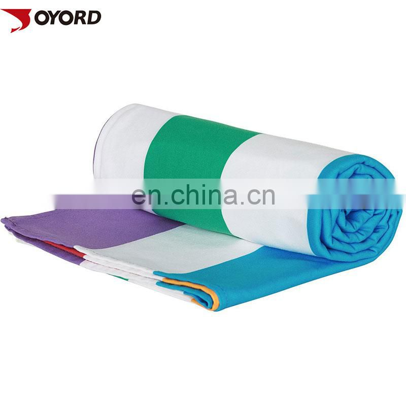 Custom Made Microfiber Sublimation Golf Towel