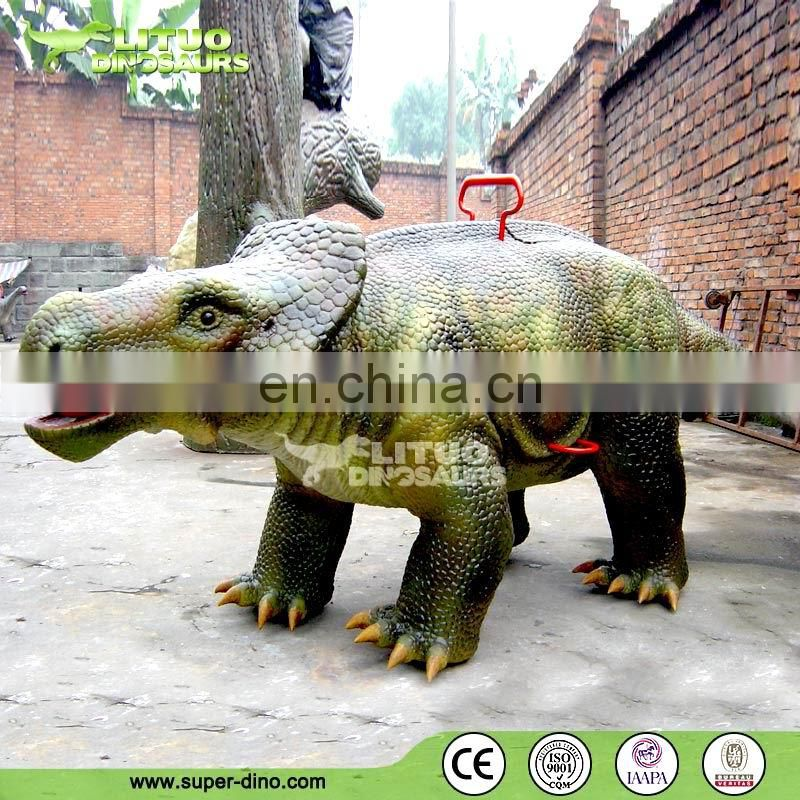 Outdoor Kids Coin Operated Riding Dinosaur