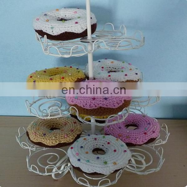 Crochet donuts ,knitted food pattern, donut-souvenir