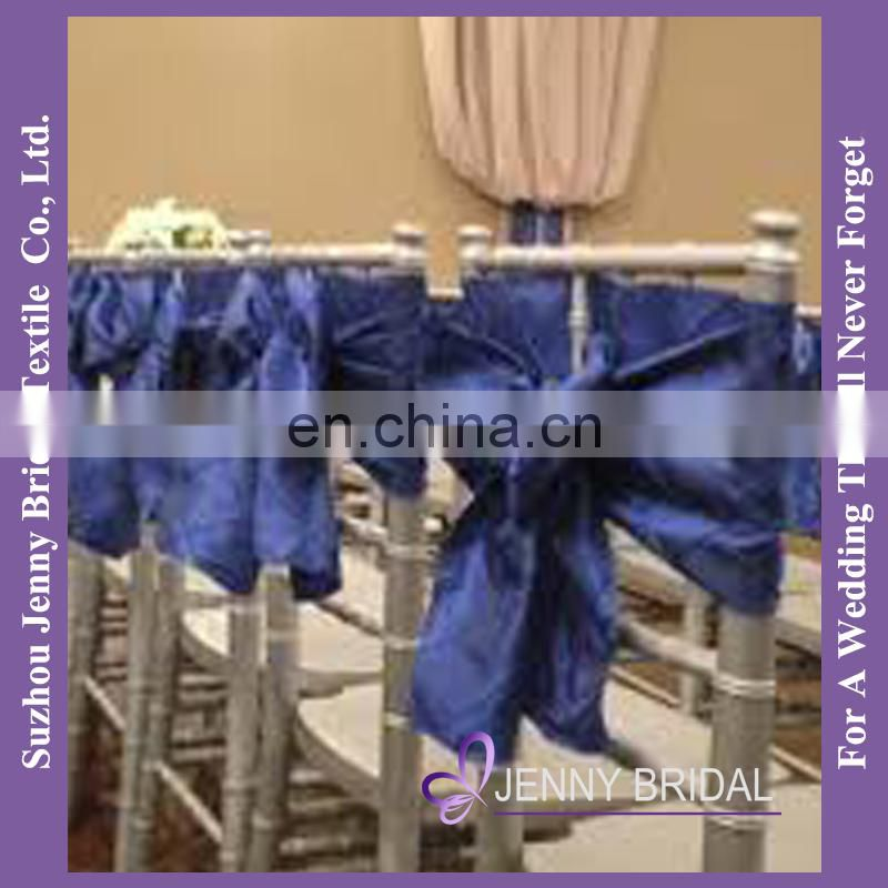 C389F pre tied chair sashes blue chair cover bows for chairs