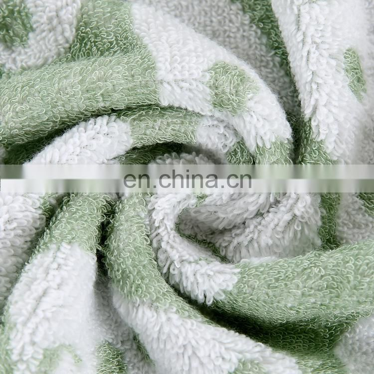 Wholesale high quality jacquard terry bamboo fiber and cotton hand towel