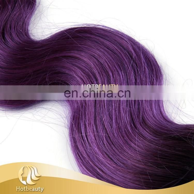 2016 New Color Hair Extension Purple Human Hair Weave