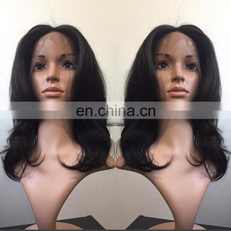 7A Grade Brazilian Hair Front Lace Wig Natural Wave Remy Human Hair African Wig With Baby Hair