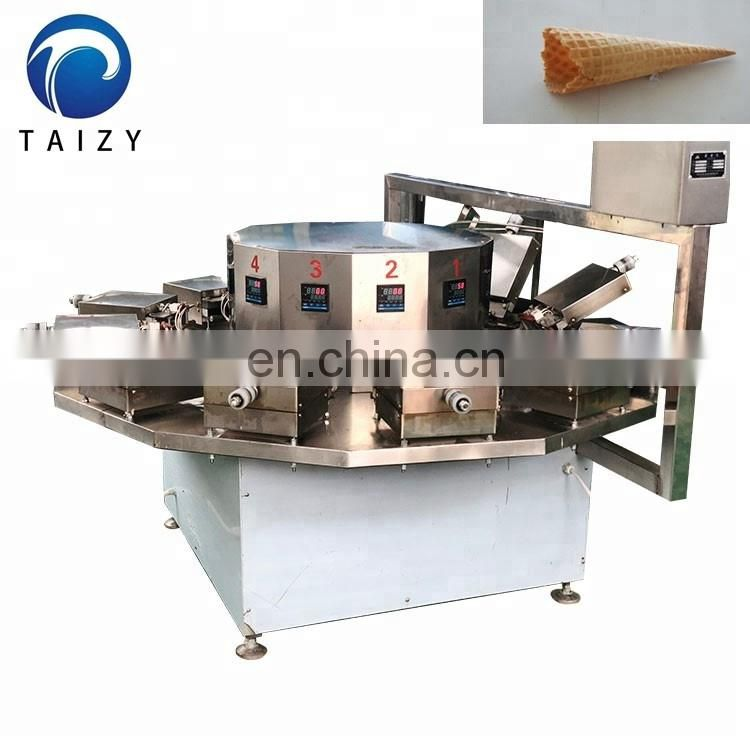 Industrial Automatic Crisp Sugar Waffle Cone Rolling Baking Making Production Line Ice Cream Cone Machine For Sale