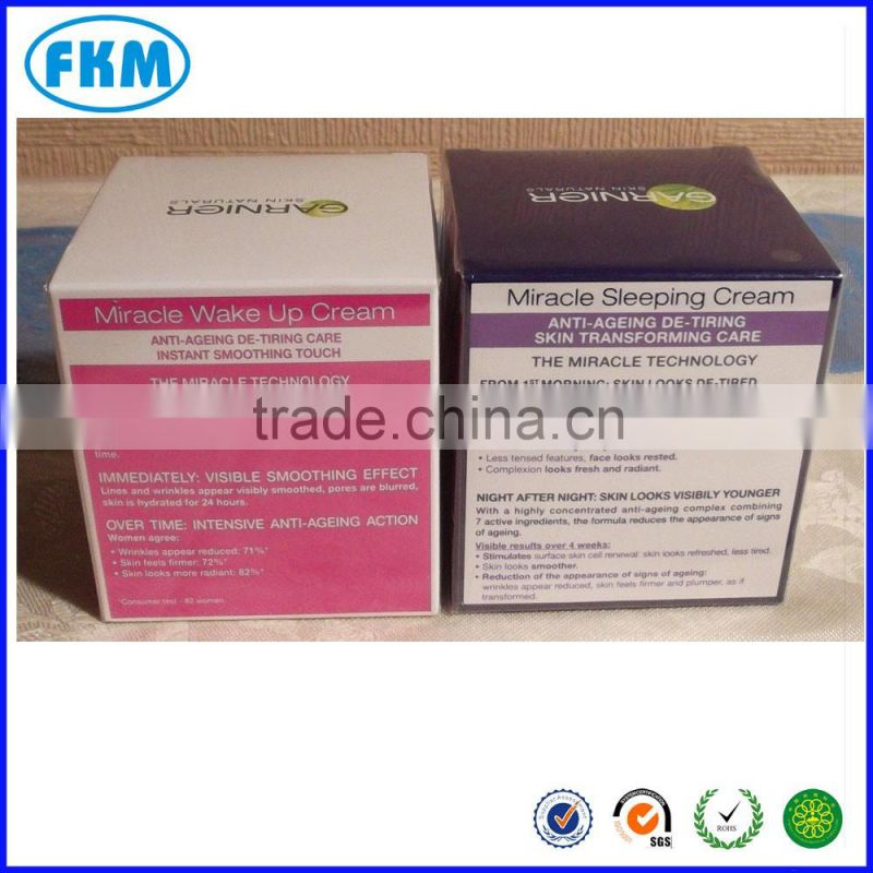 Skin Care Cream Use and Personal Care Industrial Use Kraft Paper Cosmetic Container Boxes
