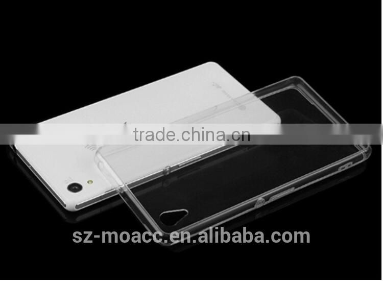 2015 new Ultra Thin clear transparent TPU case for Sony Z4