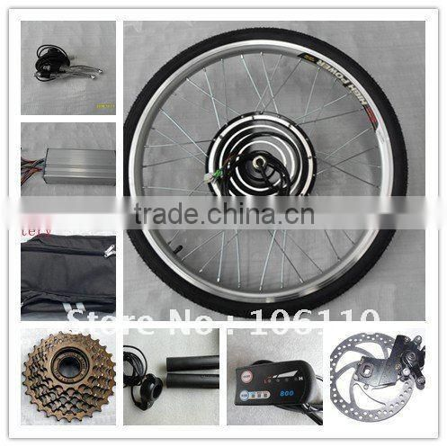 "disc brake ,26"" 48v 750w/800webike conversion kits + led display+disc brake"