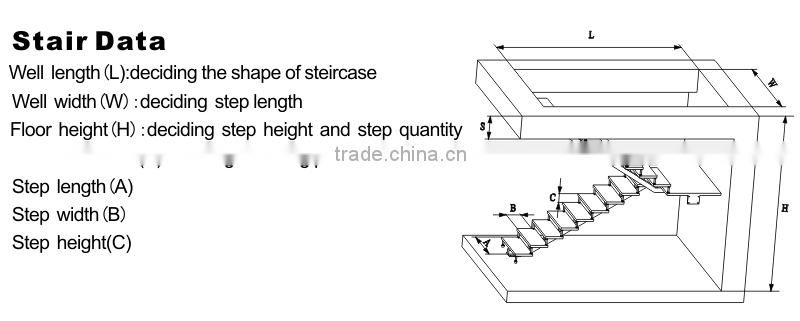 u shaped small space stairs with laminated glass step of