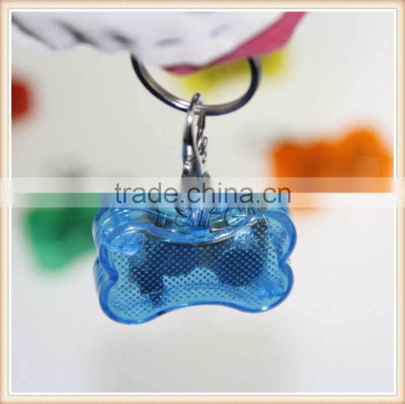 2015 new pet dog bone pendant LED flashing safe night light lamp pendant