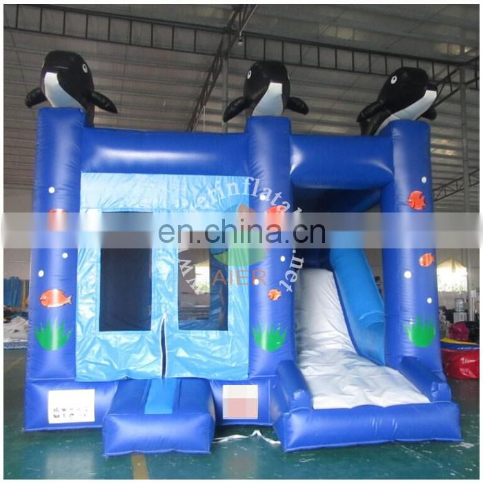 2017 Aier indoor inflatable bouncy castle inflatable inflatable castle with slide