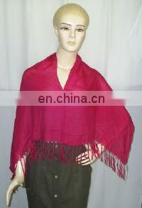 Poncho with handwork