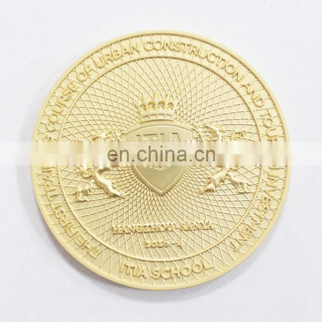 Manufactory production custom gold metal coins Dia Casting 3D Challenge Coin
