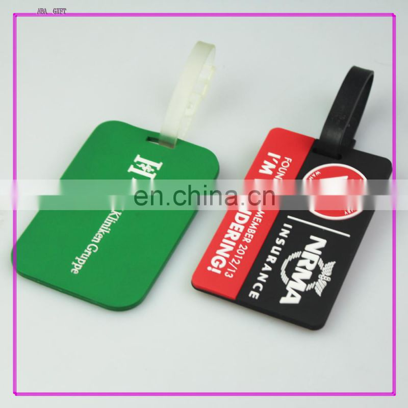 Bag Accessories Airplane Luggage Tag/ Silicone Bag Tag /Travel Tag