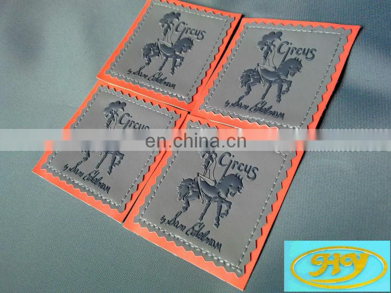 china supplier garment leather label printing label