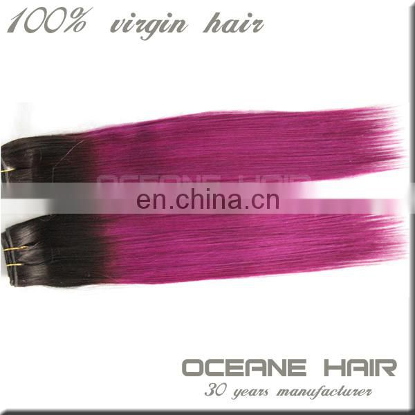 China wholesale factory price hight quality super popular most beautiful double drawn sofy thick brazilian ombre weave hair