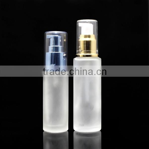 cosmetic frosty 50ml foundation bottle for cosmetic with press pump