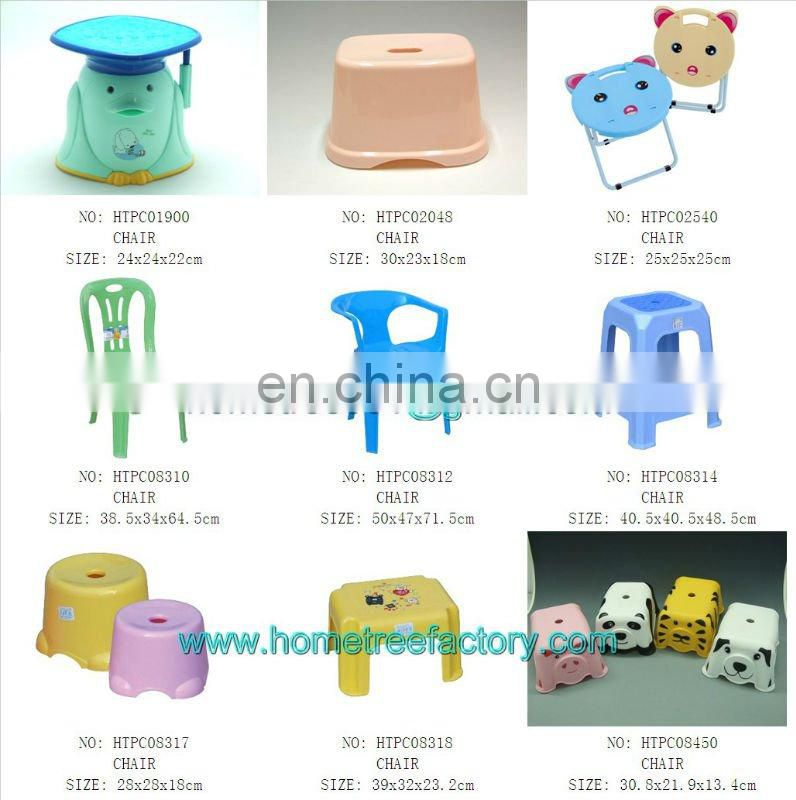 Korea style cartoon printing plastic chairs