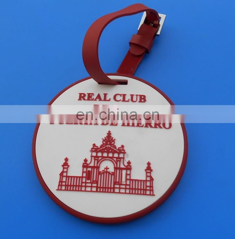 custom logo and size design company name advertising soft pvc luggage tag