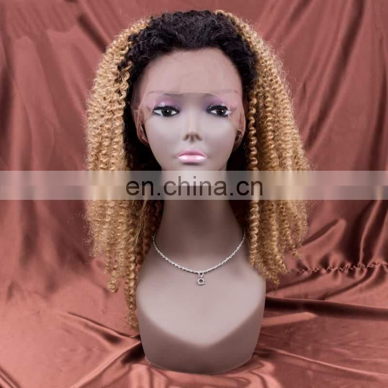 Brazillian hair wigs blond curly wig