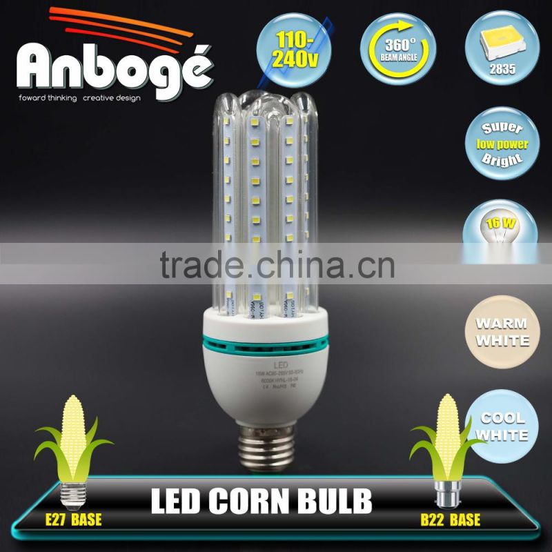Low price high lumen energy efficient light bulbs 16w led corn lamp light bulbs for indoor lighting