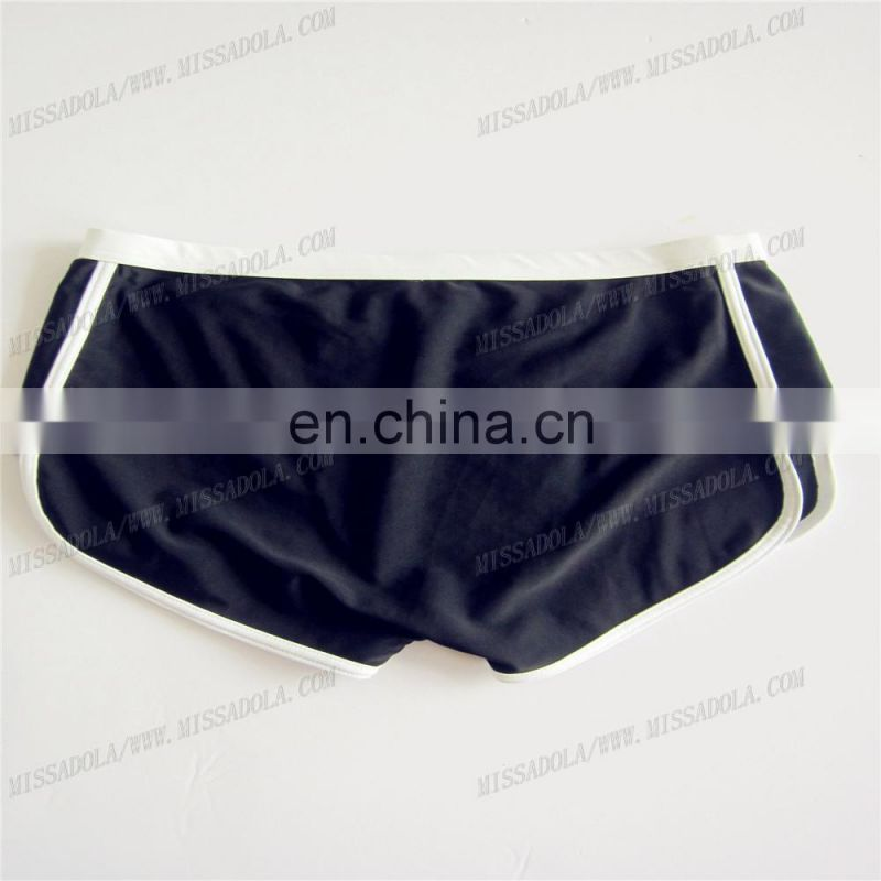 2015 black tight men swimwear sexy swim trunk