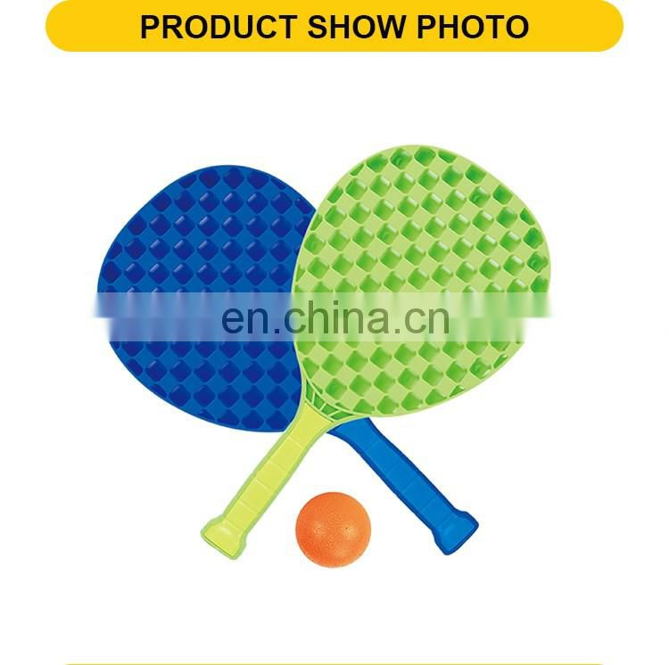 New products 14 inch kids plastic rackets with solid ball