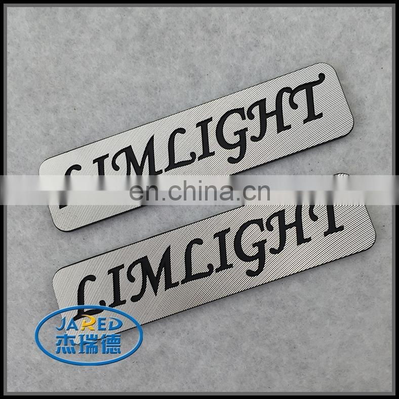 Customized Carving Engraved Logo Brushed Craft Metal Printing Aluminum Label