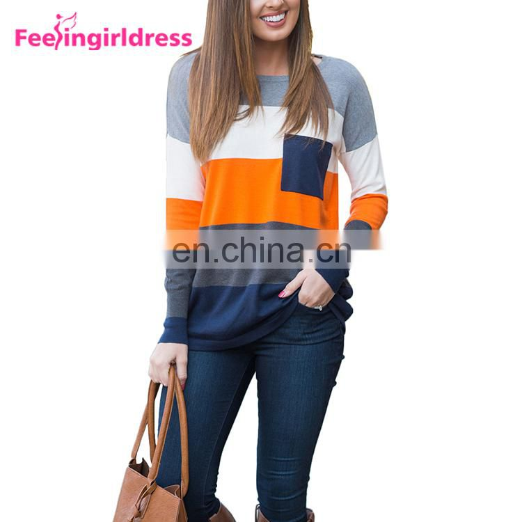 Custom 2017 Fashionable Long Sleeves Ugly Knitted Women Sweater