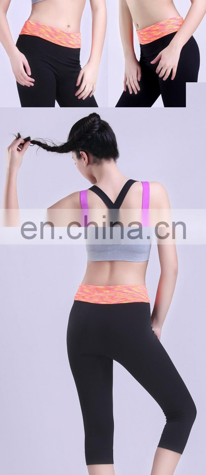 Fashion 3 Colors Women Padded Colorful Straps Yoga Tops Gym Athletic Sports Bra