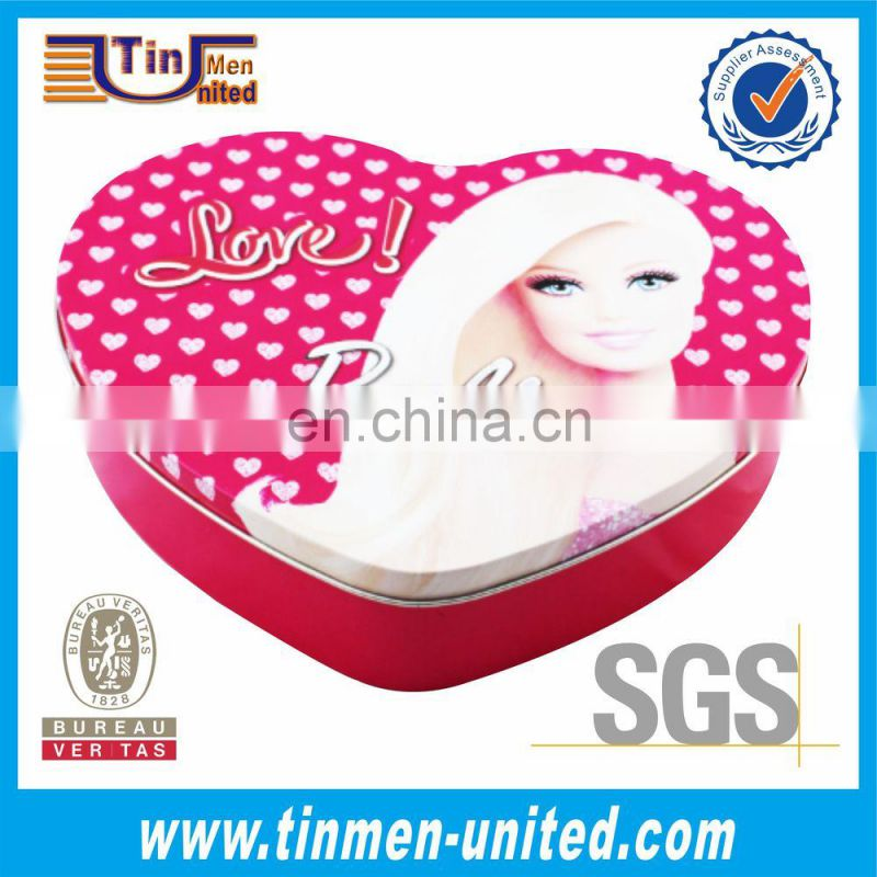 Barbie Doll Hearted-Shaped Tin Box