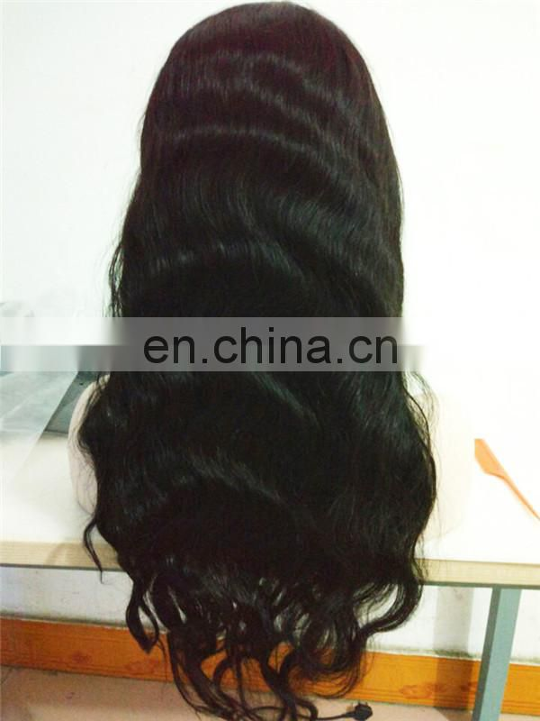 In stock 180% density brazilian human hair lace frontal wig