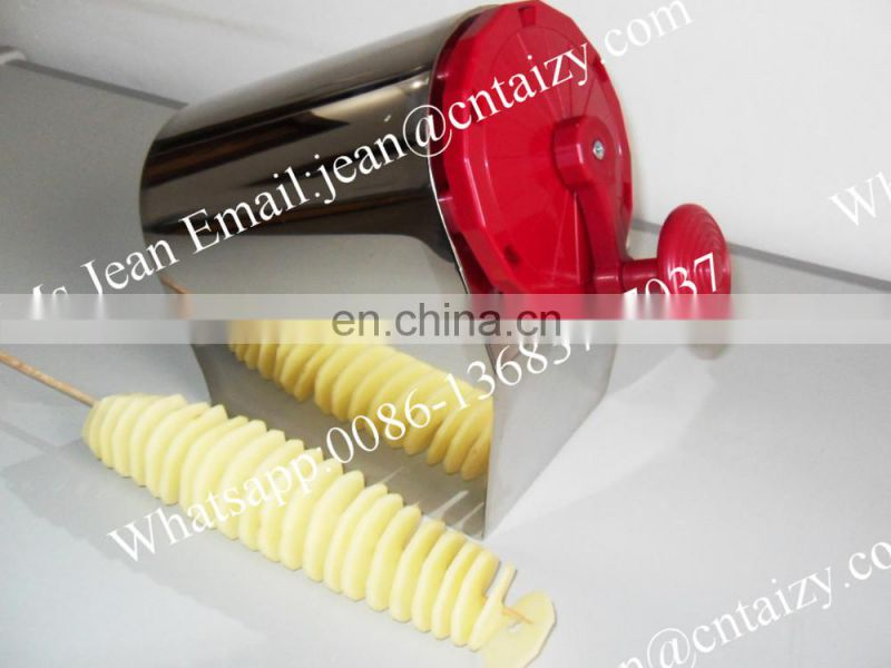 Stainless Steel Spiral Potato Chips Cutter / Twist Potato Chips Machine / Hot Sale Spiral Potato Cutter