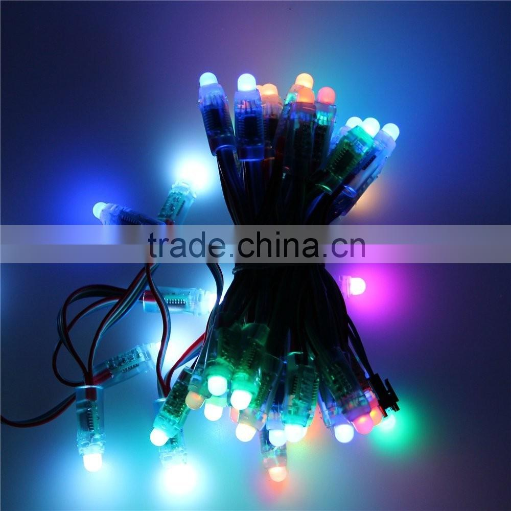 dahosun DC 12V 12mm Diffused Digital Led Pixel String Addressable Dream Color Christmas LED Module Waterproof IP68 Round