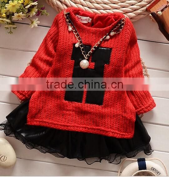 2014Korean Style Princess Lace Design Girls Sweater All Match Children Cardigan