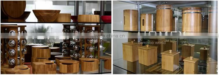 Top Quality Airtight Tea Coffee Sugar Canisters with Bamboo Lid/Homex_Factory