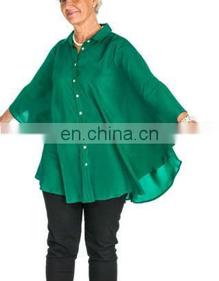 models 100% silk blouse for women